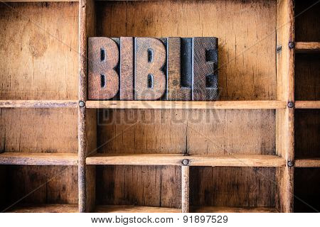 Bible Concept Wooden Letterpress Theme