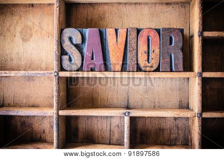 Savior Concept Wooden Letterpress Theme