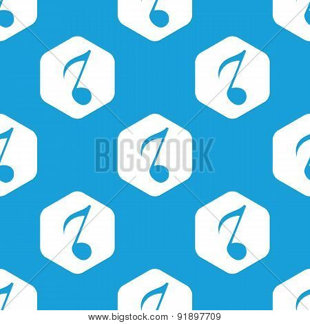 Eighth note hexagon pattern