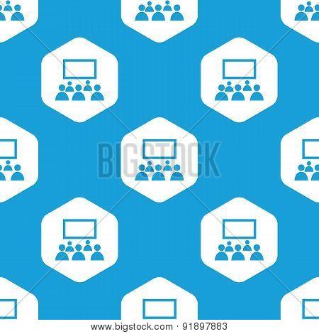 Audience hexagon pattern