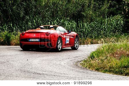 old car FERRARI CALIFORNIA mille miglia 2015