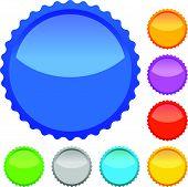 stock photo of starburst  - Colorful badges - JPG