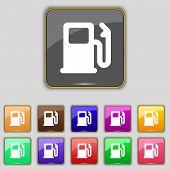 foto of petrol  - Petrol or Gas station Car fuel icon sign - JPG