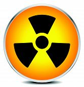 picture of nuke  - Simple radiation radioactivity sign - JPG