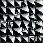 stock photo of stud  - Studded pointed background seamless pattern - JPG