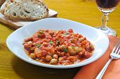 image of cod  - Salt cod with chickpeas and tomatoes Roman  - JPG