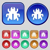 picture of disinfection  - Software Bug Virus Disinfection beetle icon sign - JPG