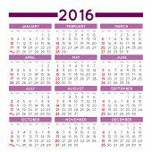 picture of august calendar  - 2016 elegant squared calendar - JPG