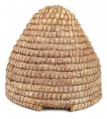 pic of bee-hive  - Old Straw Bee Hive Cutout - JPG