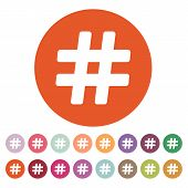 picture of hashtag  - The hash icon - JPG