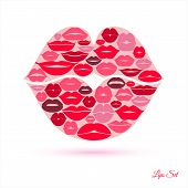 picture of  lips  - Lips in lips abstract background - JPG