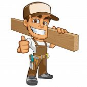 pic of carpenter  - Friendly carpenter - JPG