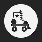 stock photo of roller-derby  - Roller Skate Icon - JPG