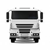 picture of dump_truck  - Tipper Dump Truck isolated on white background - JPG