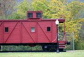 picture of caboose  - did you know the caboose had kitchen and sleeping quarters for the crew - JPG