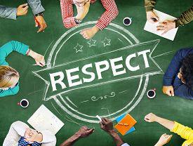 stock photo of respect  - Respect Honesty Honorable Regard Integrity Concept - JPG