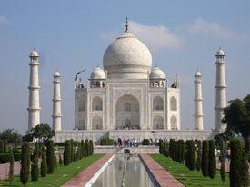 foto of mumtaj  - the beautiful taj mahal in india agra - JPG