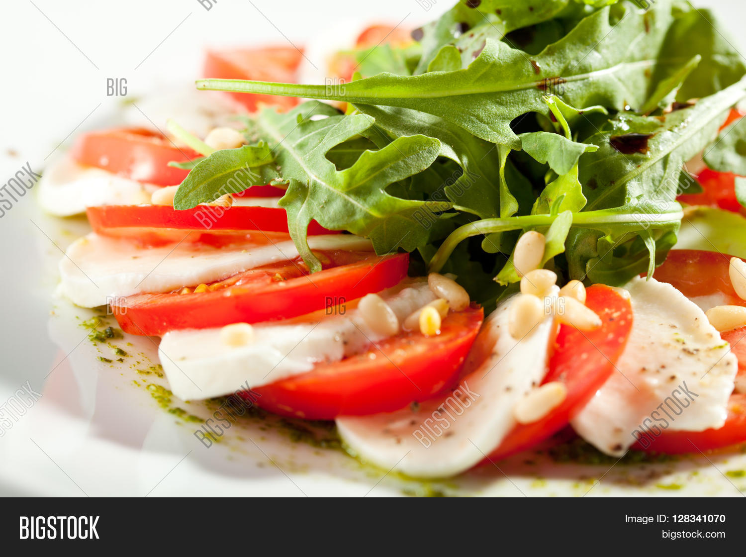 Caprese Salad - Salad with Tomatoes, Mozzarella Cheese and ...