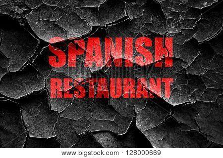 Grunge cracked Delicious spanish cuisine
