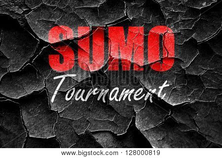 Grunge cracked sumo sign background