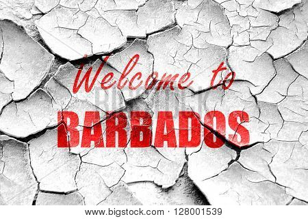 Grunge cracked Welcome to barbados