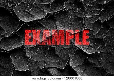 Grunge cracked example sign background