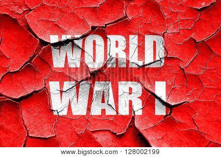 Grunge cracked World war 1 background