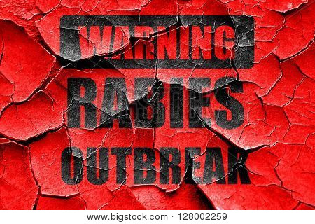 Grunge cracked Rabies virus concept background