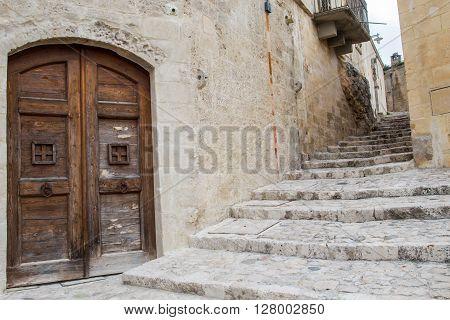 Unesco Street Of Matera, Basilicata, Italy. Sassi Di Matera