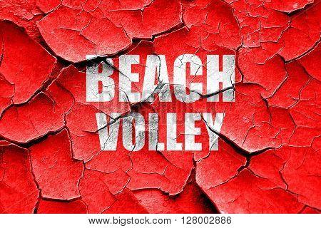 Grunge cracked beach volley sign