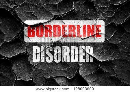 Grunge cracked Borderline sign background