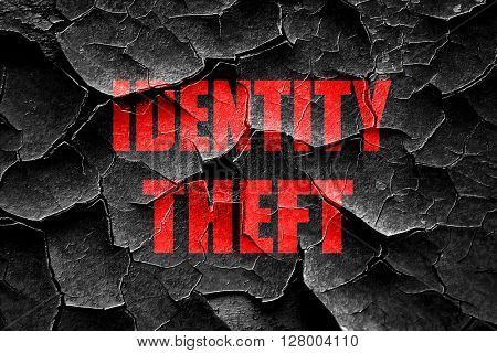 Grunge cracked Identity theft fraud background