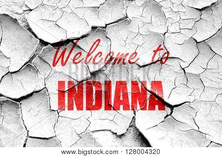 Grunge cracked Welcome to indiana