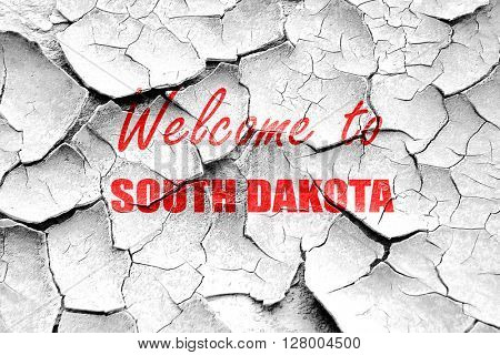 Grunge cracked Welcome to south dakota