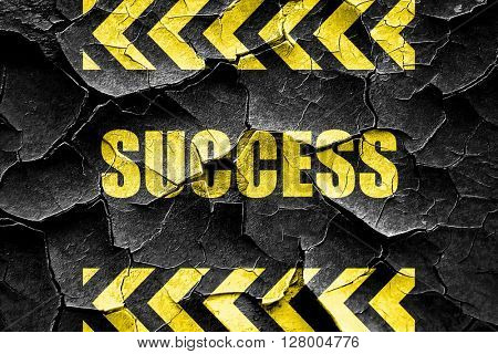 Grunge cracked Success sign with smooth lines
