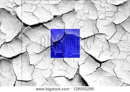 Grunge cracked Sierra maritime signal flag