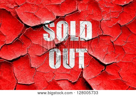 Grunge cracked sold out sign