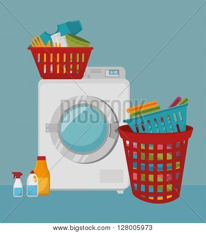 laundry full service design, vector illustration eps10 graphic