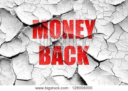 Grunge cracked money back sign