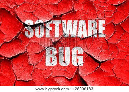 Grunge cracked Software bug background