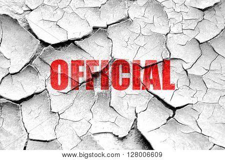 Grunge cracked official sign background