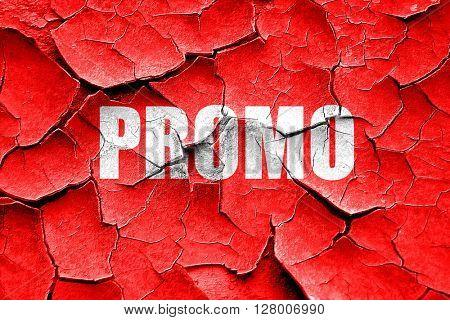 Grunge cracked promo sign background