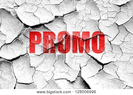 Grunge cracked promo sign background