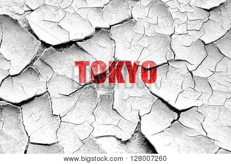 Grunge cracked tokyo