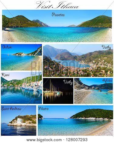 visit Ithaca collage Ionian islands Greece - greek summer photos