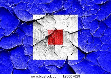 Grunge cracked Whiskey maritime signal flag