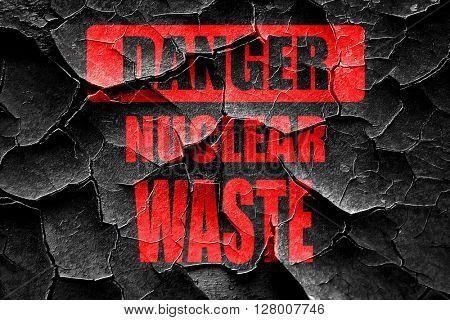 Grunge cracked Nuclear danger background