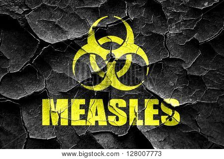 Grunge cracked Measles concept background