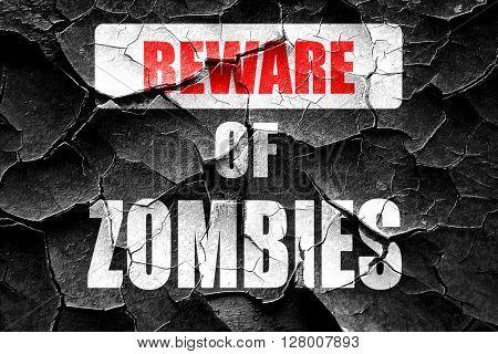 Grunge cracked zombie virus concept background