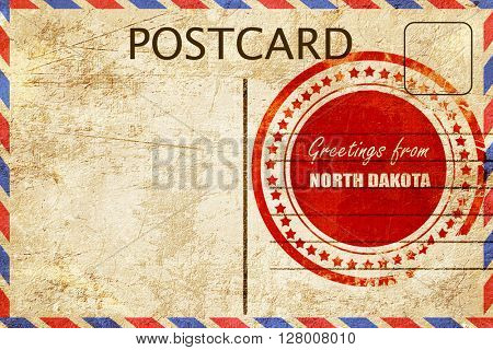 Vintage postcard Greetings from north dakota